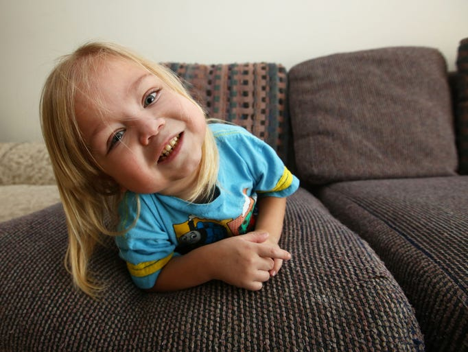Four-year-old Anthony Scarbrough, who had a kidney