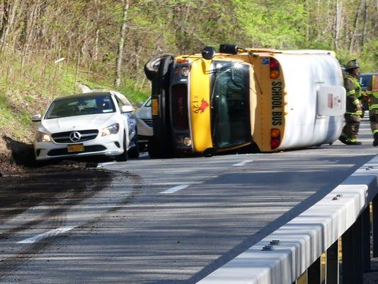 Taconic school bus rollover