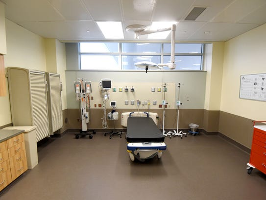 One of the trauma rooms in the emergency wing of Avita