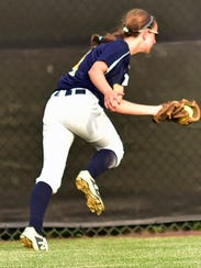 Greencastle's Hannah Beeler makes a spectacular catch.