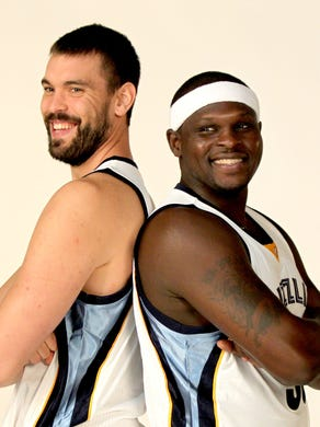 September 29, 2014 - Memphis Grizzlies big men Marc