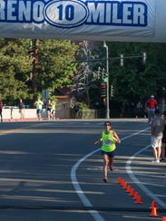 Ramona Sanchez was the first woman to cross the finish