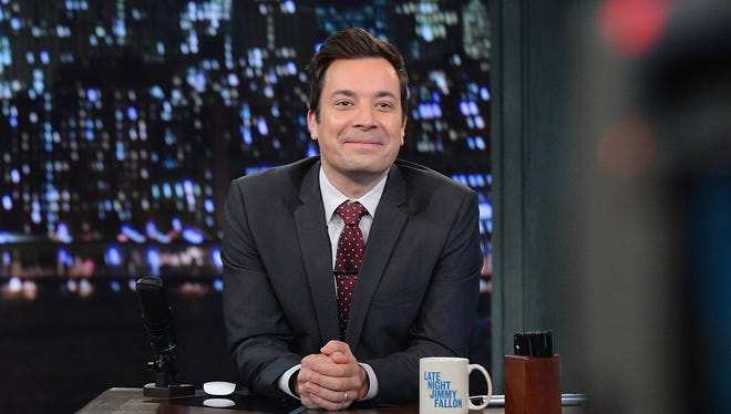 Jimmy Fallon hosts 'Late Night With Jimmy Fallon' at Rockefeller Center on Sept. 25, 2013, in New York City.