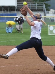 CCD's Missy Dieckman-Meyer delivers the pitch against Indian Hill.
