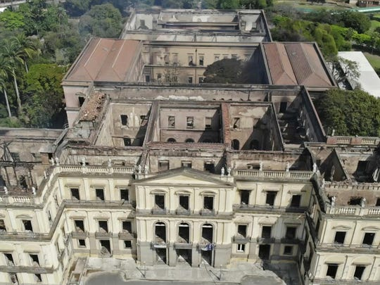 The National Museum had authenticity in spades. Its colonial-era building was the backdrop to much of Brazil's history, a onetime royal palace that served as the seat of the united Portuguese and Brazilian empire before the museum's collection was transferred there in 1892.