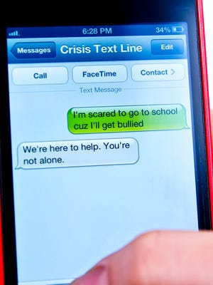 The Crisis Text Line provides free one-on-one connection with a crisis counselor via text message.