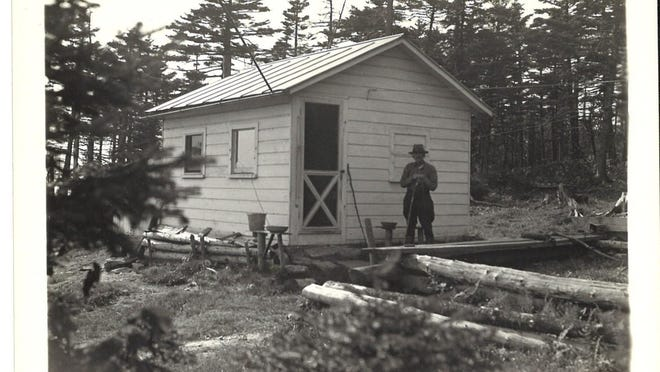 Historic view of the CCC Camp in Glastenbury, ca. 1945.