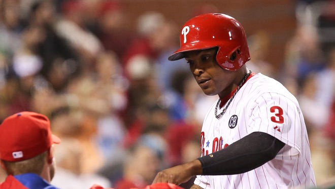 The Phillies traded Marlon Byrd to the Reds on Wednesday.