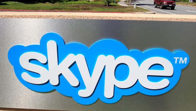 Exterior view of Skype offices in Palo Alto, Calif.