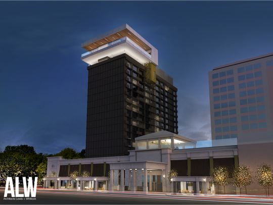 The 17th floor addition to DoubleTree Hotel spans 7,500