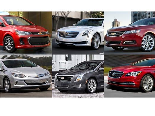 Clockwise from upper left, 2017 Chevrolet Sonic, 2017