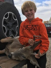 Joshua Boles shot a white-tailed buck during the youth