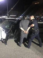 Salinas police arrest Jose Alberto Velasco on suspicion of an armed robbery Sunday.