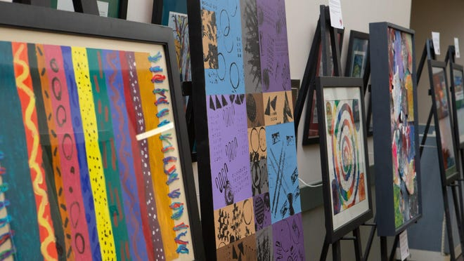 Pieces of artwork created by children and collaborators at Family Service & Guidance Center were auctioned off Aug. 14 during the organization's annual Works of Heart event. This year's event was held virtually and over $100,000 was raised.