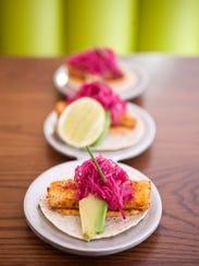 Mahi-mahi tacos at Distrito at the Saguaro hotel in