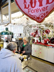 Penny Berkheimer, of Royers Flowers and Gifts, takes