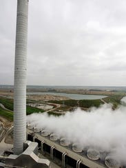 View from the top of the MidAmerican Energy plant at