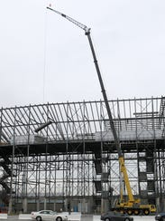 Removal of seats at Dover International Speedway.