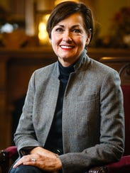 Lt. Gov. Kim Reynolds poses for a portrait in her formal