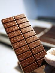 Evan Ackerman, a chocolate maker at French Broad Chocolates,