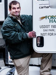 As a Forgotten Harvest truck driver, Chris Comstock rescues nutritious, surplus and prepared food from more than 800 food businesses in metro Detroit.