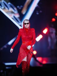 """Katy Perry performs during her """"Witness"""" tour stop"""