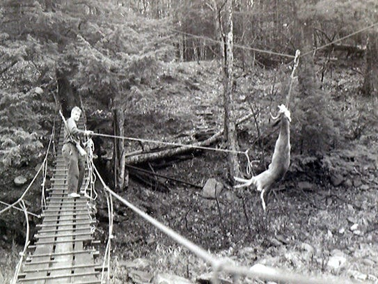 A hunting camp in New York's Catskill Mountains used