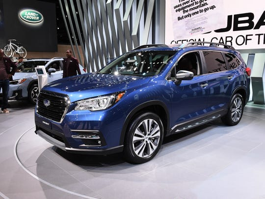 The 2019 Subaru Ascent is on display during the LA