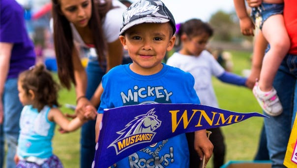 A boy who receives Early Childhood Education in Western New Mexico University's Child Development Center and Growing Tree programs, which were recently given five stars and ranked in the nation's top tier.