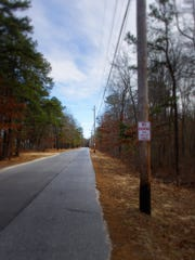 A view of Burnt Mill Road in Atco where the ghost of a little boy is said to appear.