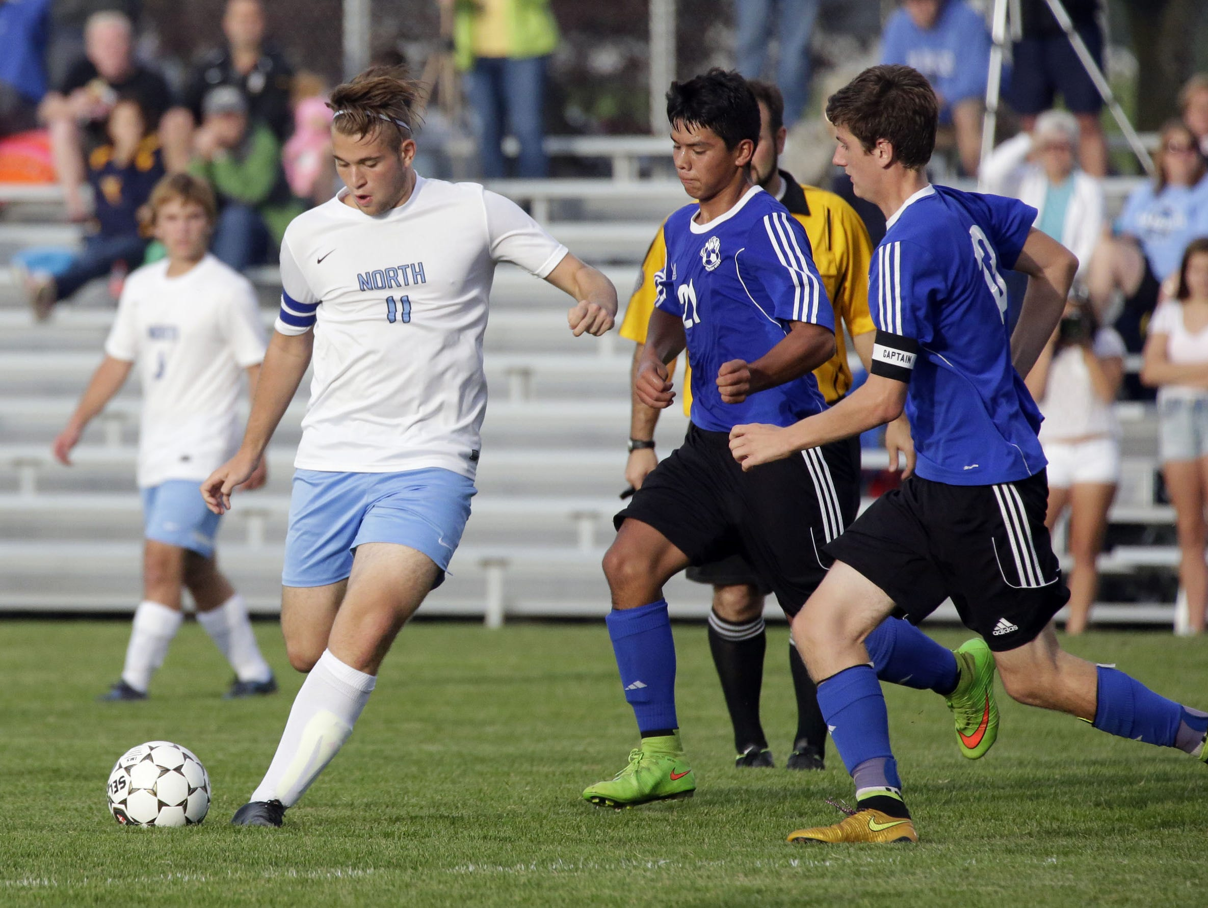 Sheboygan North senior Nicolo Vitale (11) was named the Player of the Year in the Fox River Classic Conference.