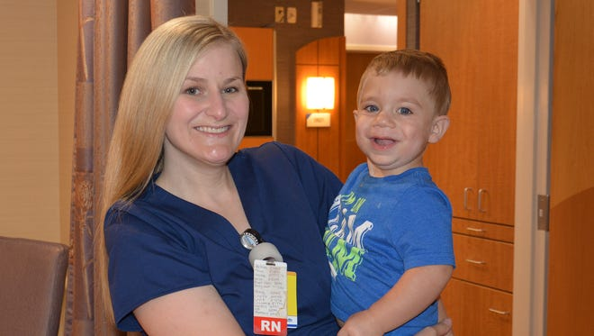 Jenna Glardon-Burns, RN, now works in the newly renovated TriHealth Advanced Obstetrical Care Unit at Good Samaritan Hospital.