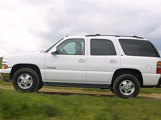 A late model Chevrolet Tahoe