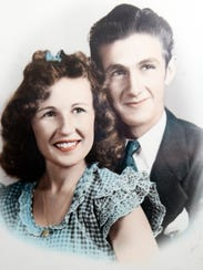 This photograph of Annalee Leonard's parents can be