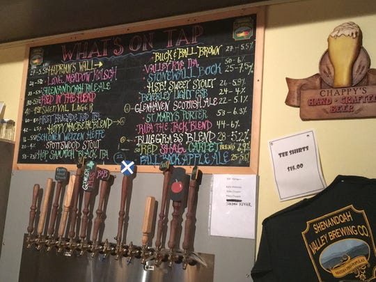 Shenandoah Valley Brewing Company's offerings.