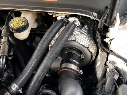 The Valeo electric supercharger underneath the hood