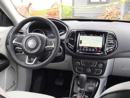 The controls are simple and intuitive on the 2017 Jeep Compass.