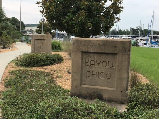 Site of the old Bayou Chico drawbridge.