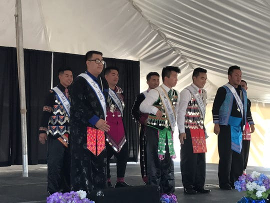 Six men competed in the Mr. Hmong Royalty Pageant July