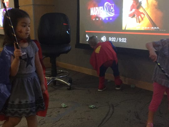 Children ran around during the Oct. 28 NICU party while