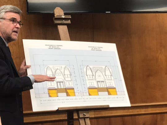 Paul Phillips, a planner for Millburn speaks to the public on Tuesday, Dec. 19, 2017 about zone changes for the township's Washington neighborhood.