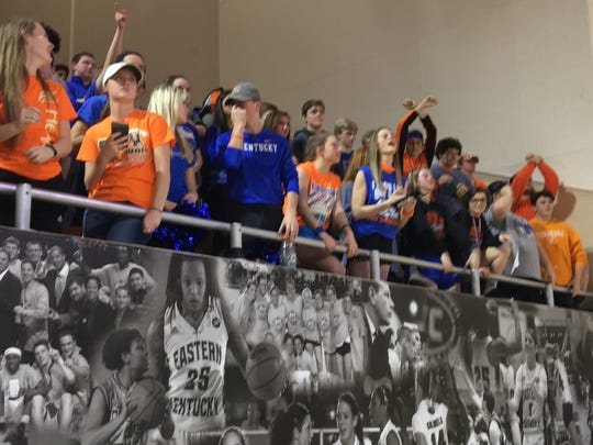 Walton-Verona students wore orange and blue to support