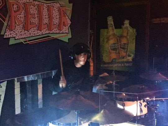 Drummer Chris Ball of Rella.