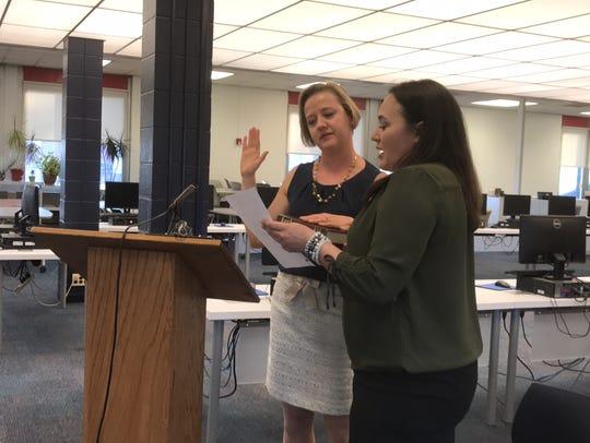 New Hackensack board of education member Frances Cogelja