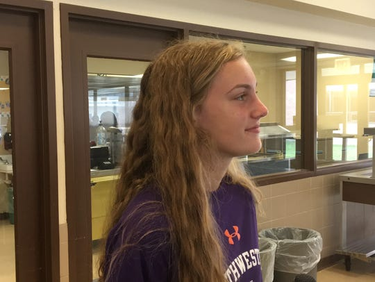 Buckeye track and field jumper Marlee Paulk talks to