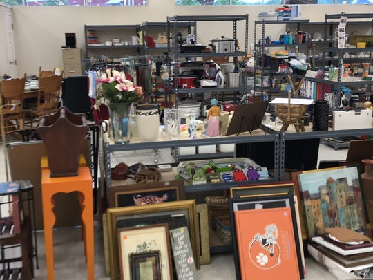 Items for sale inside the Dream Center of Pickens County's new Resale Store in Easley.