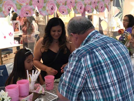 Brianna Avalos, 6, sold her lemonade on Lemonade Day