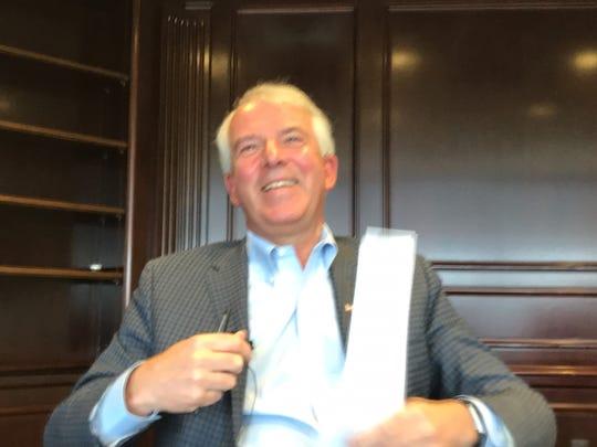 Republican U.S. Senate candidate Bob Hugin during a