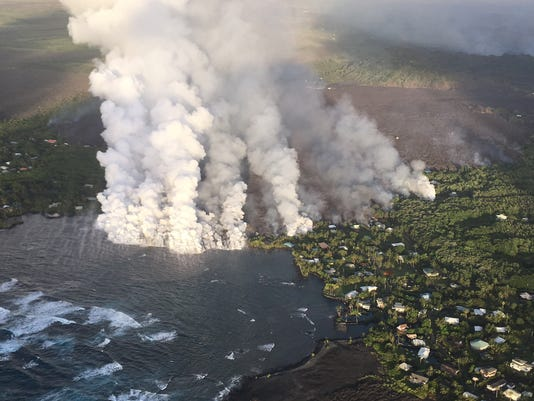 EPA USA HAWAII KILAUEA VOLCANO DIS VOLCANIC ERUPTION USA HI