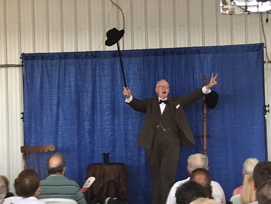 Winston Churchill, portrayed by Larry Bounds of Greenville,